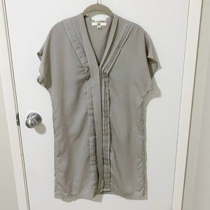 Ya Los Angeles Button Front Shimmery Shift Dress S